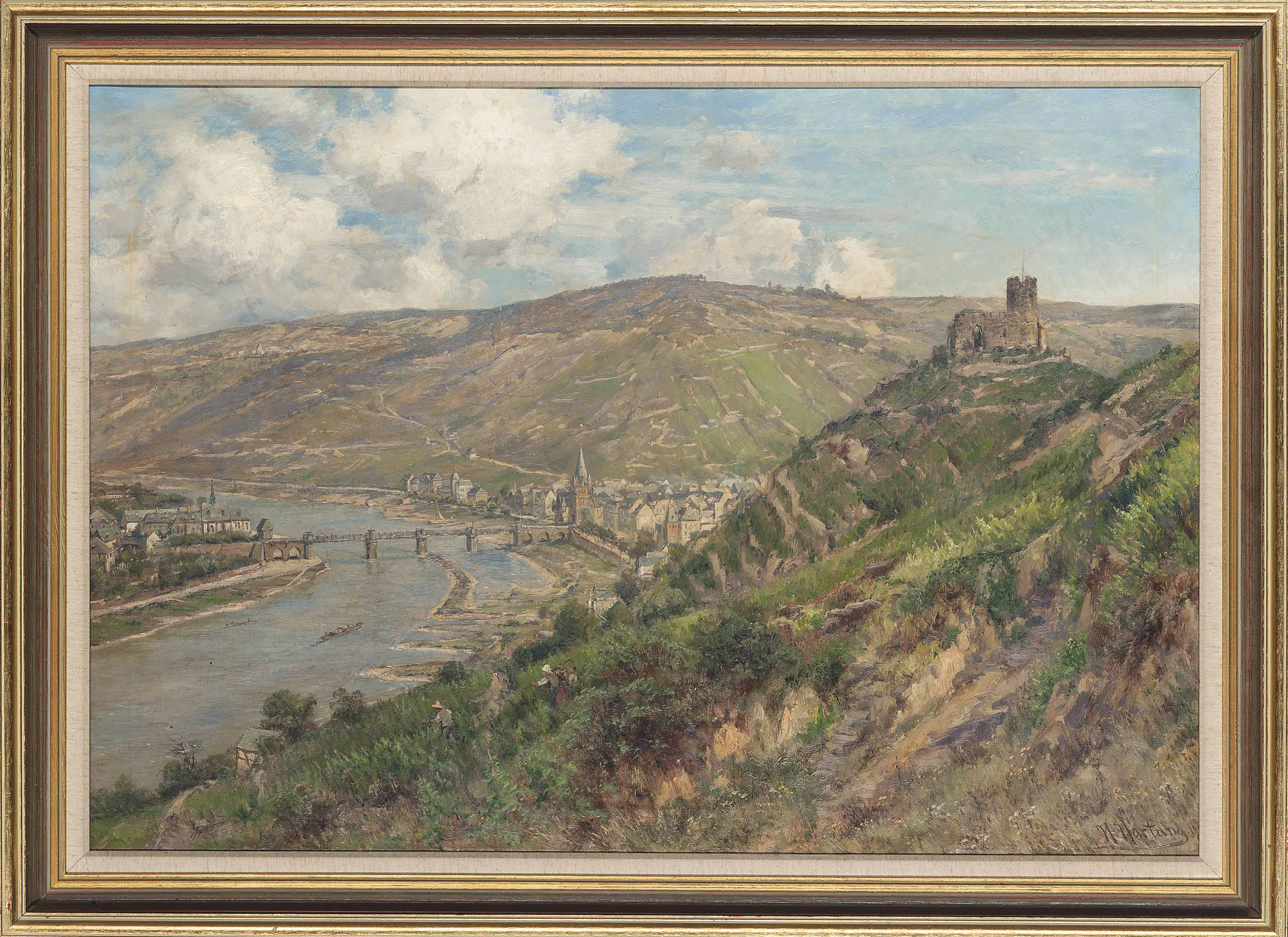 Oberwesel on the river Rhine