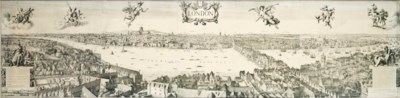 A PRINT OF A VIEW OF LONDON IN