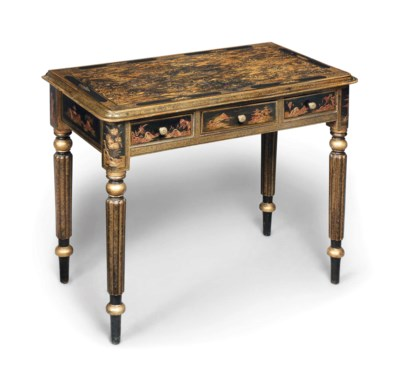 A CHINOISERIE SIDE TABLE