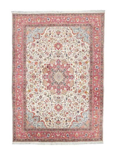 A very fine part silk Tabriz c