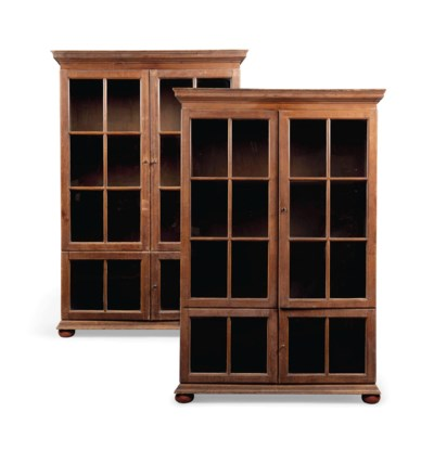 A PAIR OF PINE BOOKCASES