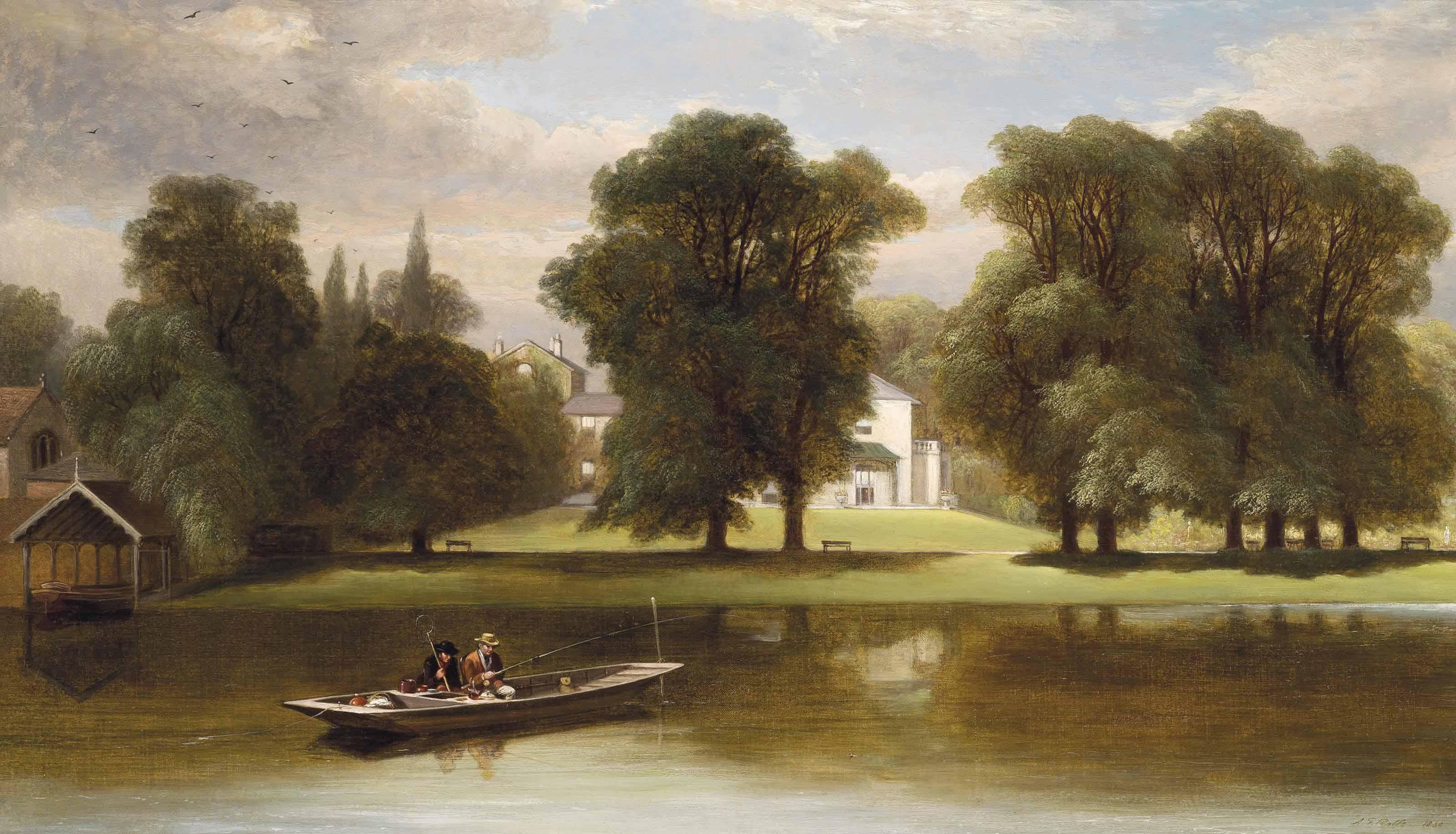 Fishing on the Thames at Twickenham