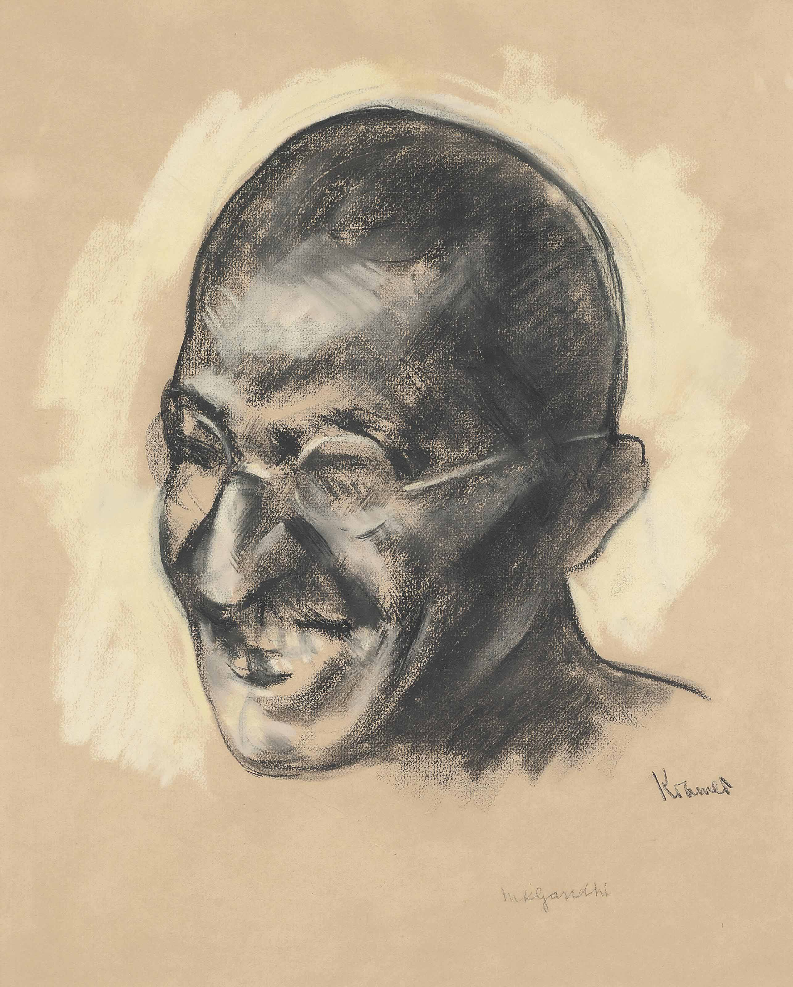 Portrait of Mahatma Ghandi