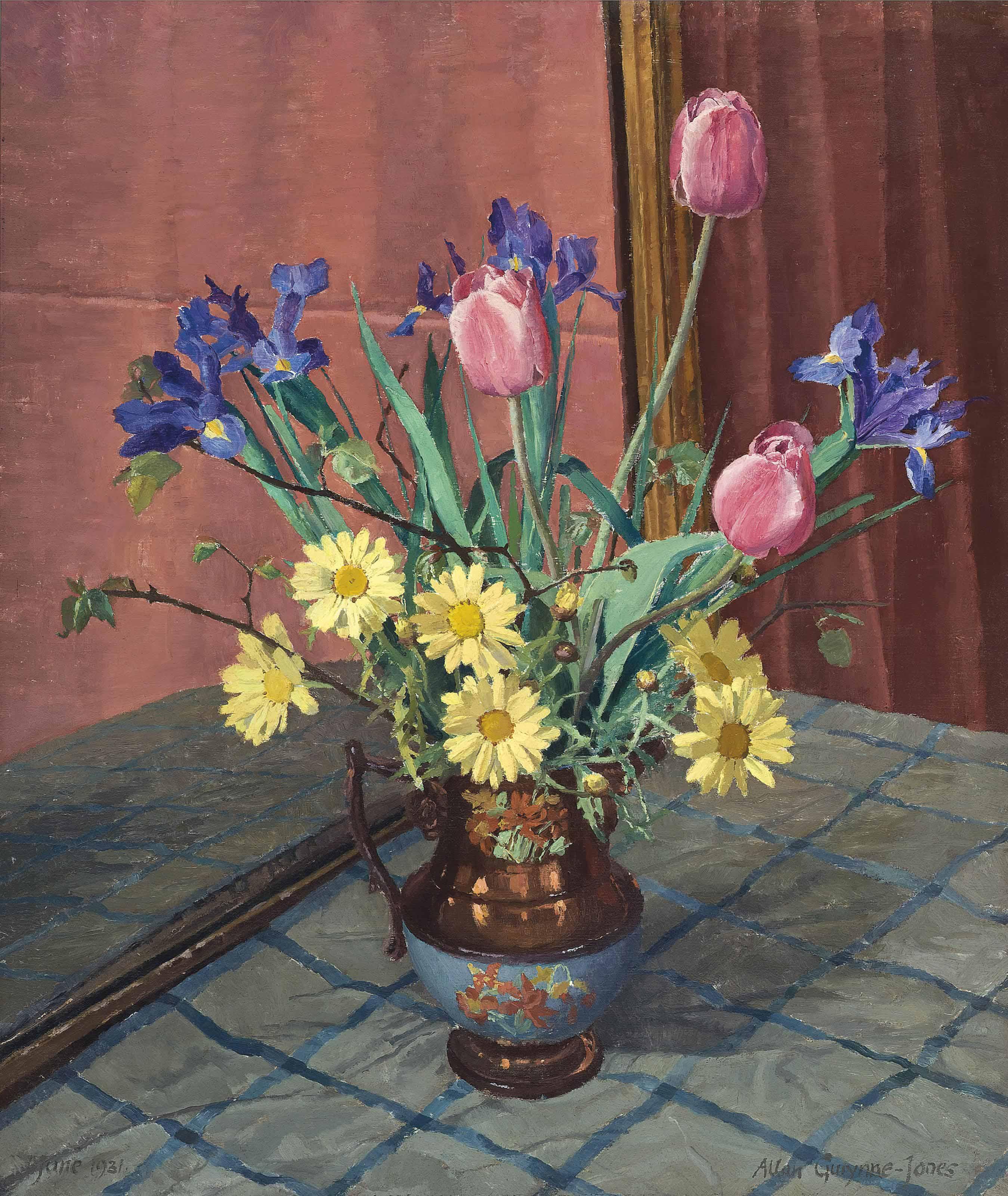 Tulips, Irises and Daisies