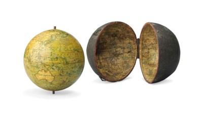 An English 3-Inch Pocket Globe