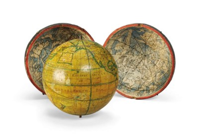 A 3-inch English Pocket Globe