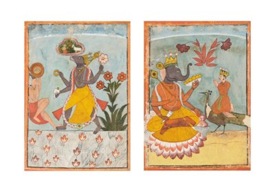 TWO ILLUSTRATIONS OF VARAHA AN