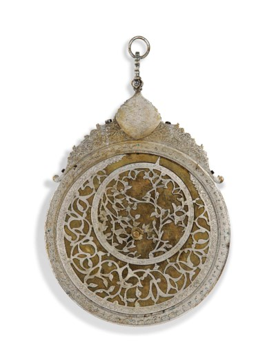 A SILVERED ASTROLABE