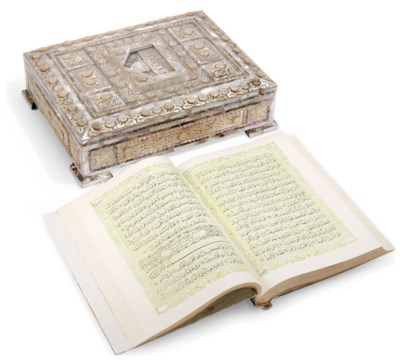 A LARGE MOTHER-OF-PEARL QUR'AN