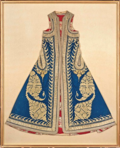 AN EMBROIDERED ROBE