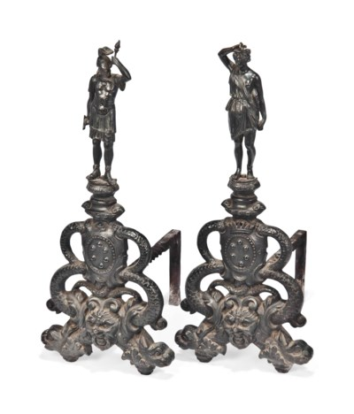 A PAIR OF ITALIAN BRONZE AND I