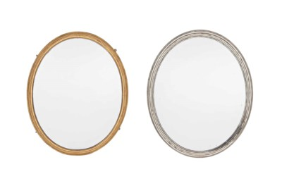 TWO SIMILAR FRENCH MIRRORS
