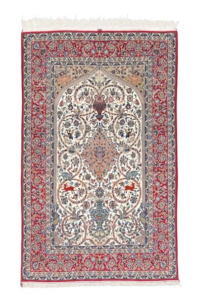 A vey fine part silk Isfahan p