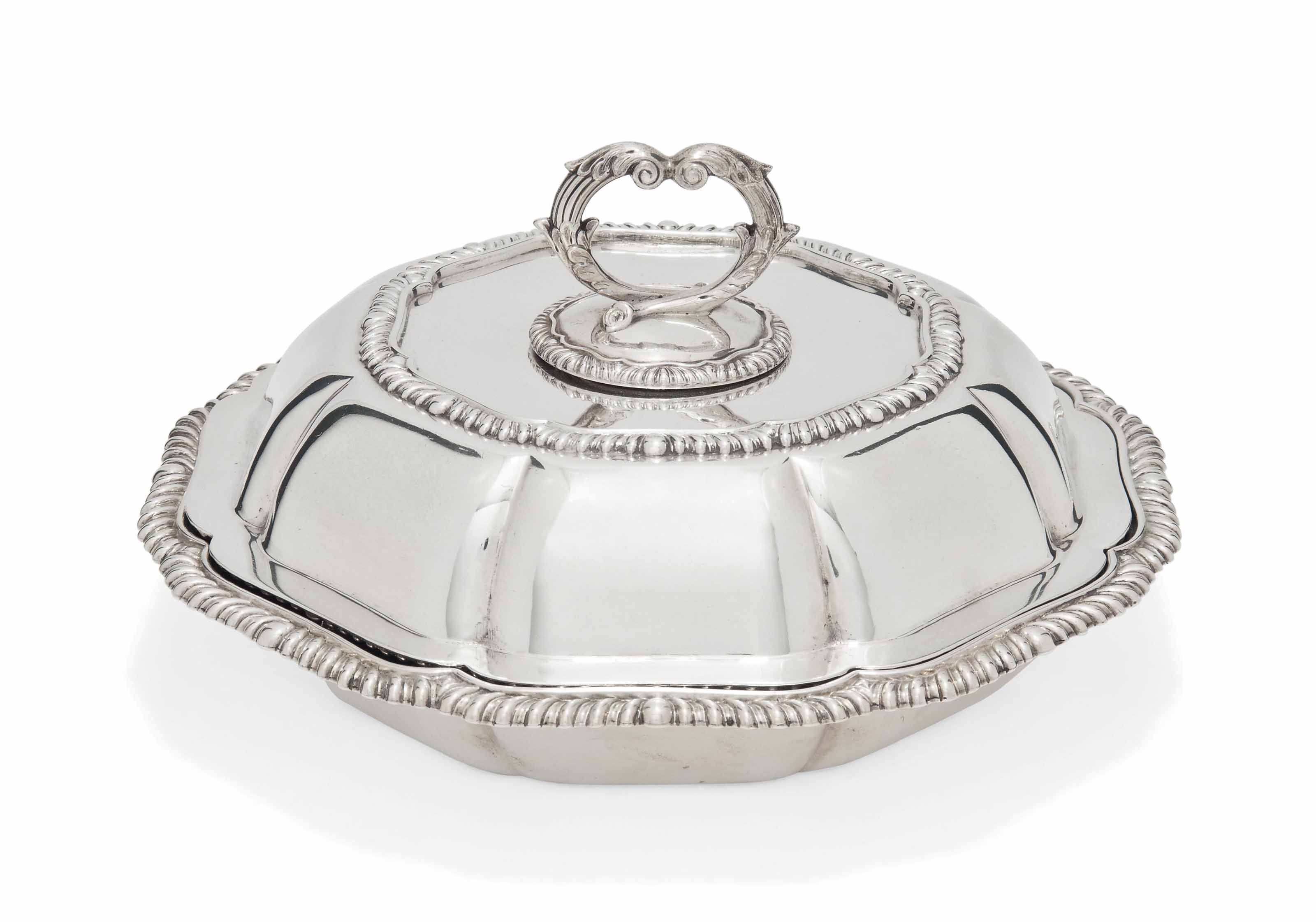 A LATE VICTORIAN SHAPED CIRCULAR SILVER VEGETABLE DISH