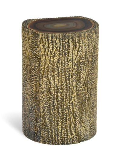 A SILVER-GILT CANISTER WITH BA
