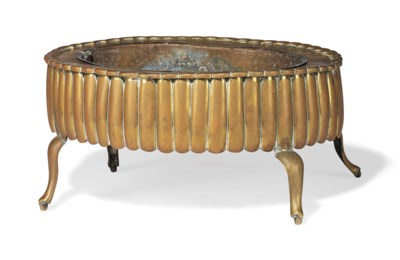 A CHINESE BRASS JARDINIERE
