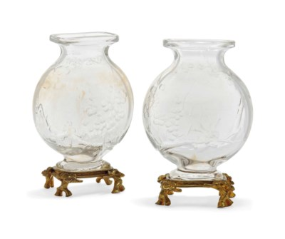 A PAIR OF FRENCH 'ROCK CRYSTAL