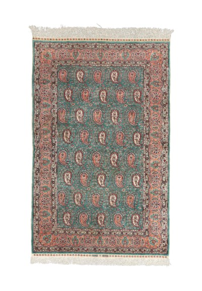 A very fine silk Hereke rug