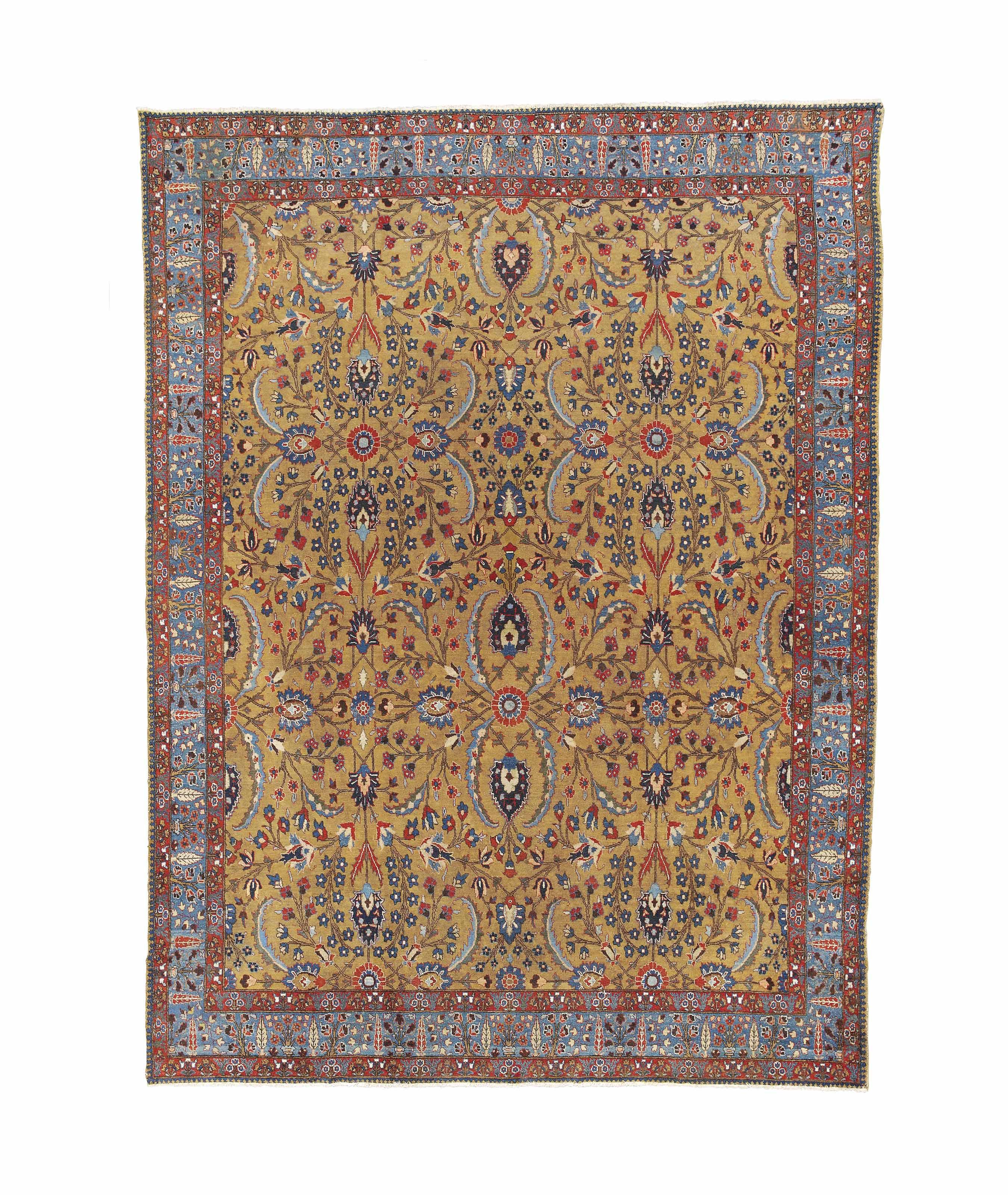 An antique Khoy Tabriz carpet