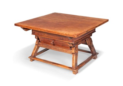 A SWISS SYCAMORE AND PINE TABL