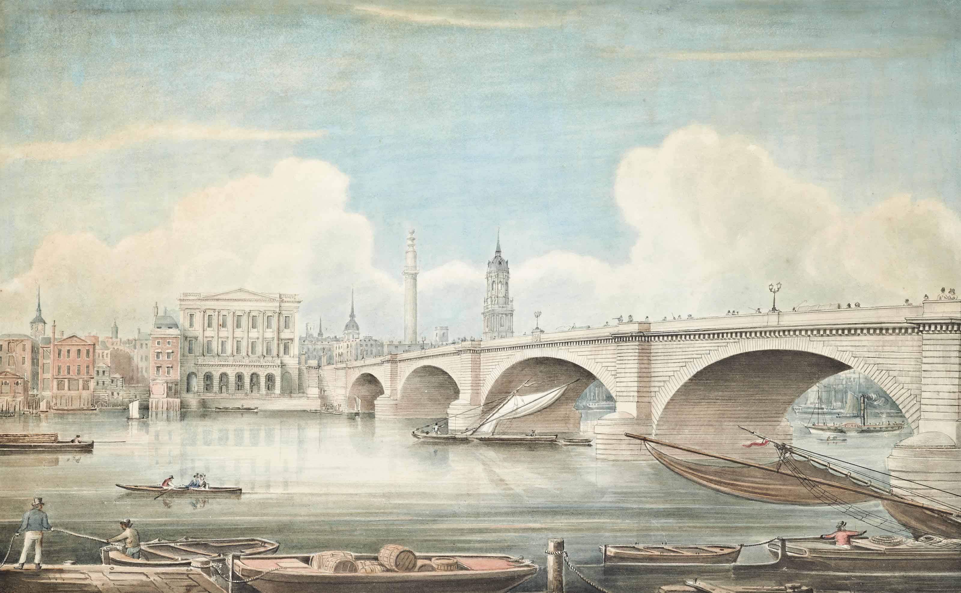 Views of the Thames: London Bridge; and Southwark Bridge