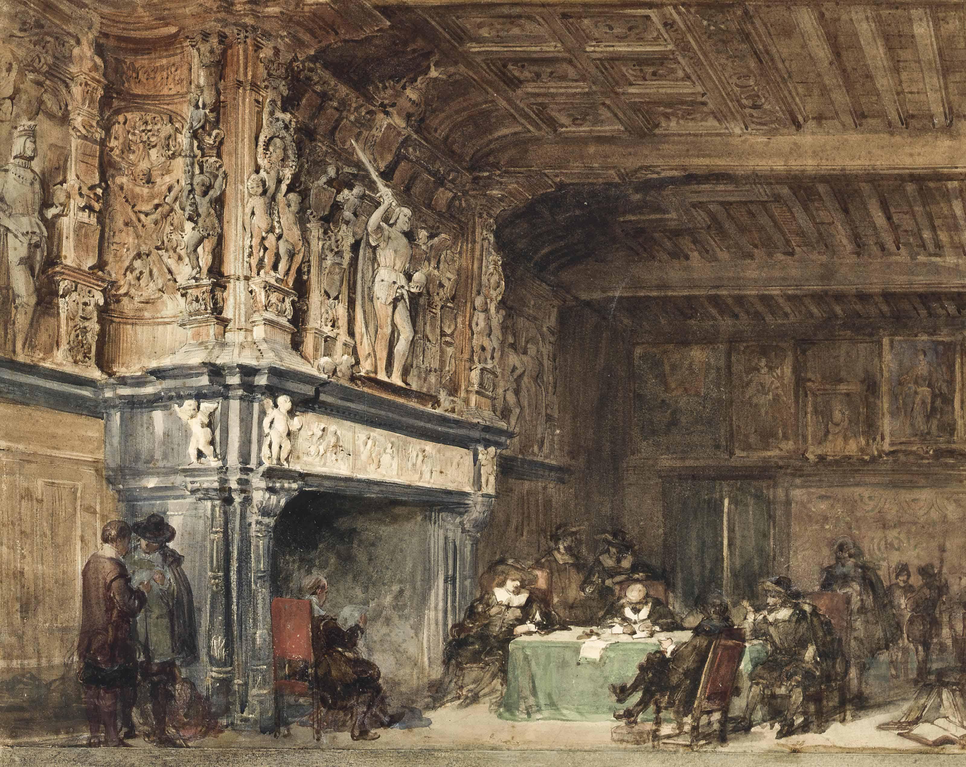 The Salle de Franc, Palais de Justice de Bruge, Belgium