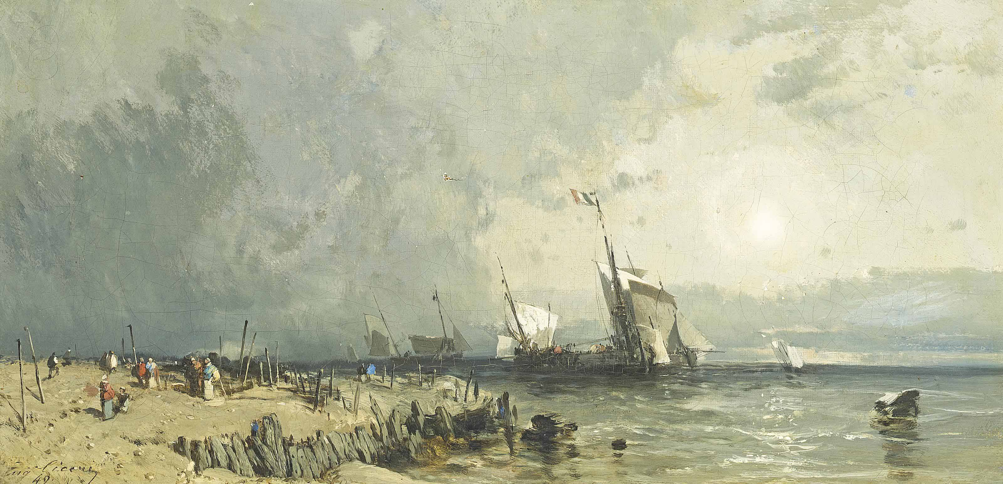 Fishing vessels by the coast