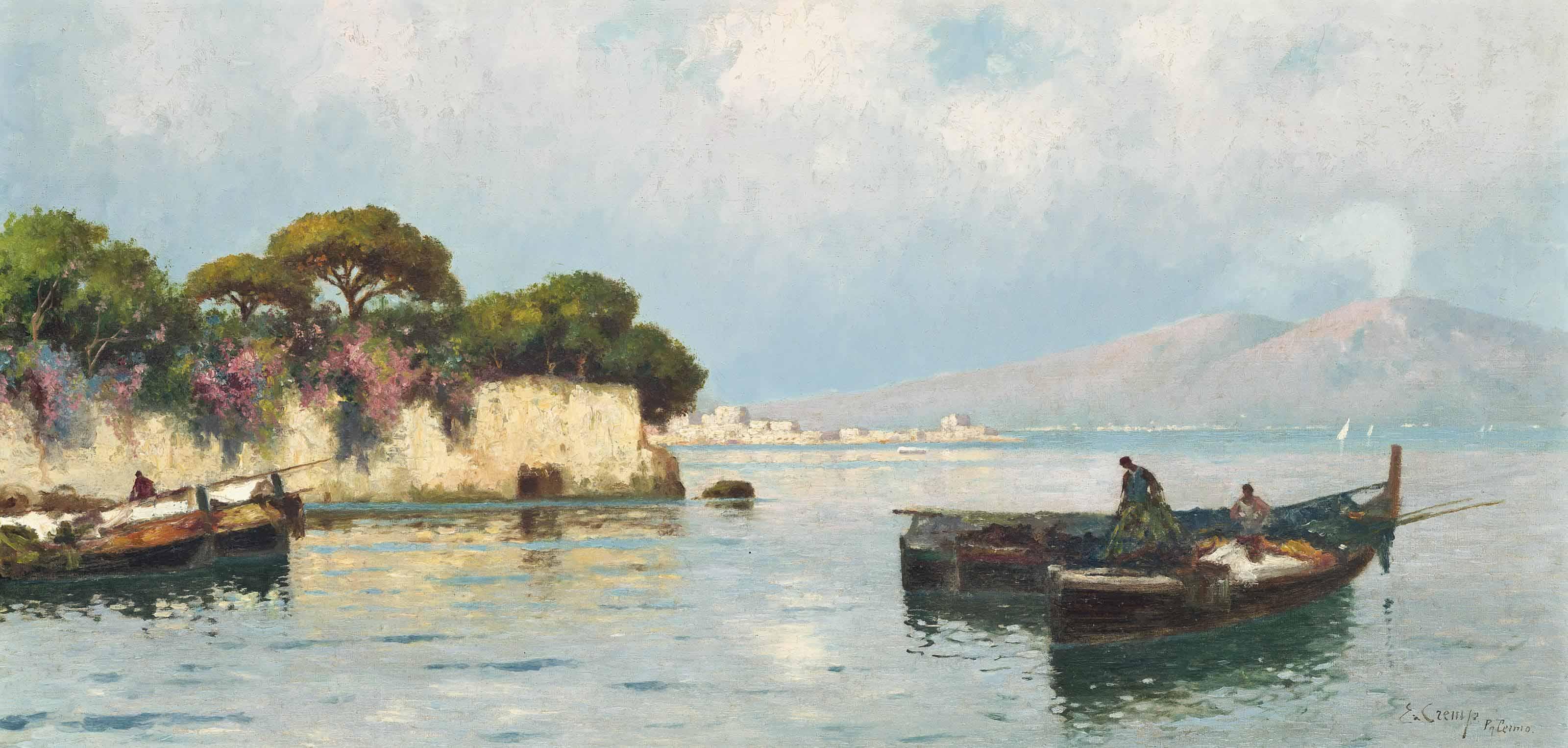 Fishermen before Etna, Palermo