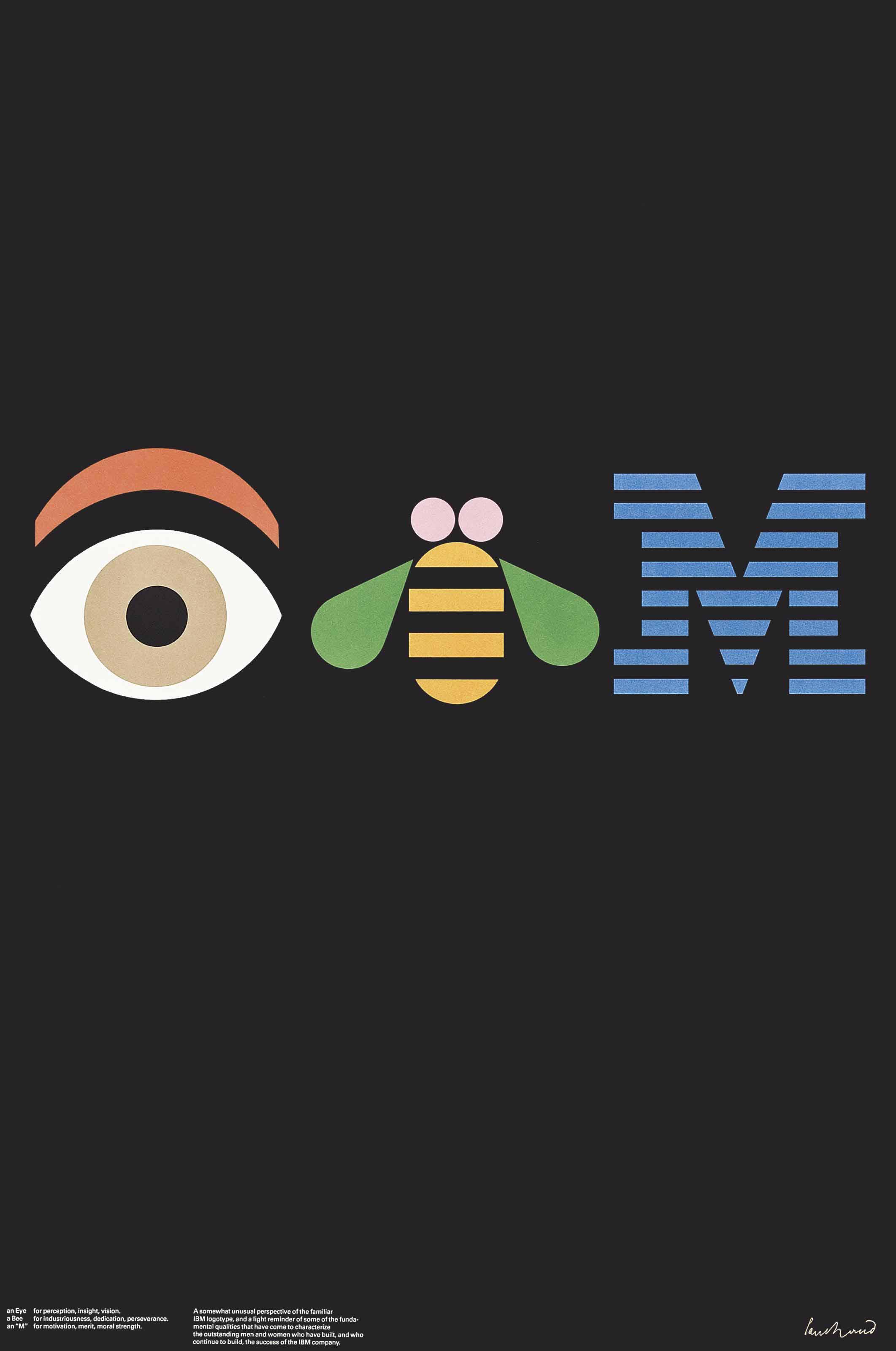 Lot 174 Paul Rand 1914 1996 IBM