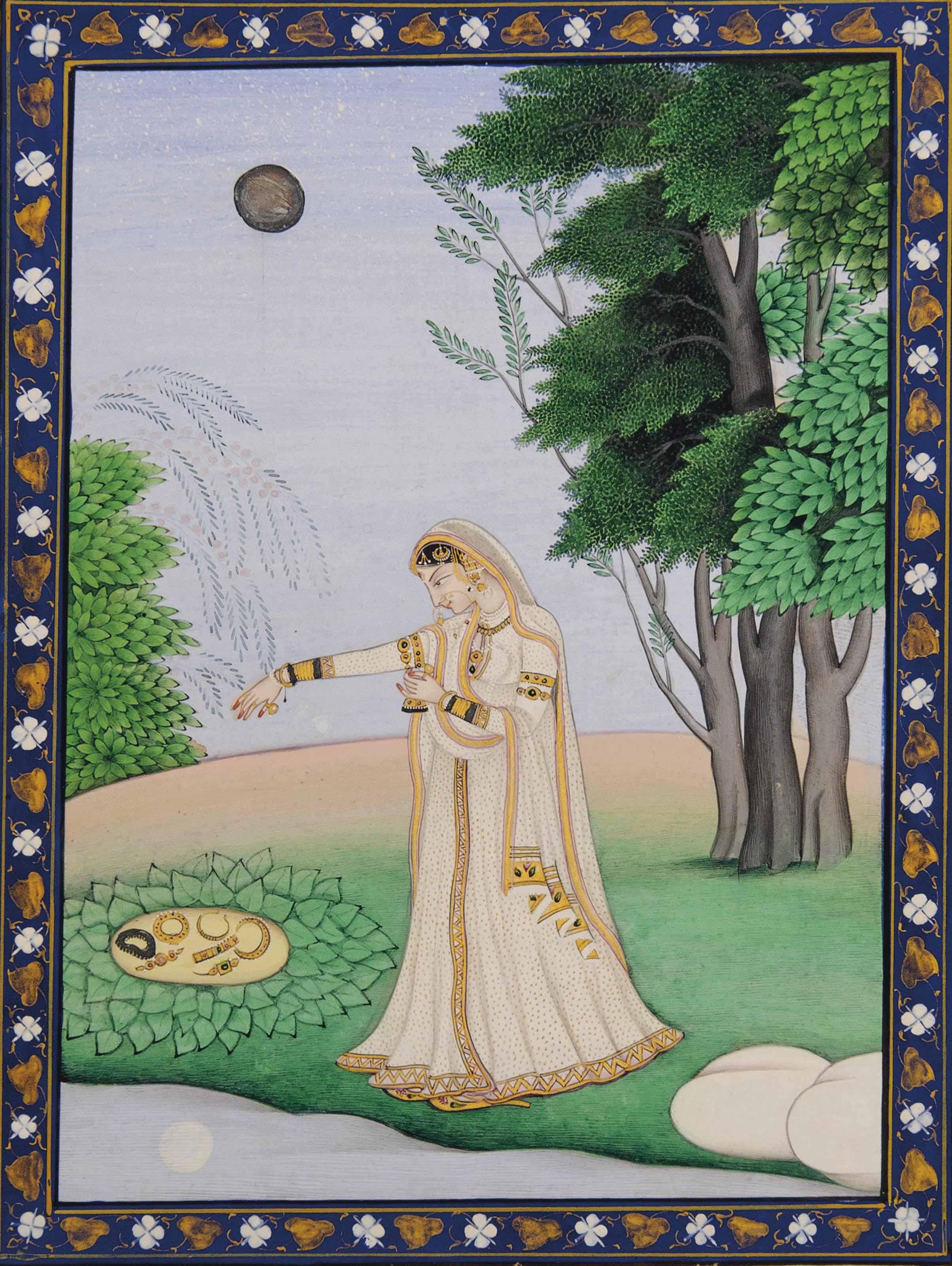 AN ILLUSTRATION TO A NAYIKA SERIES: VIPRALABDHA NAYIKA
