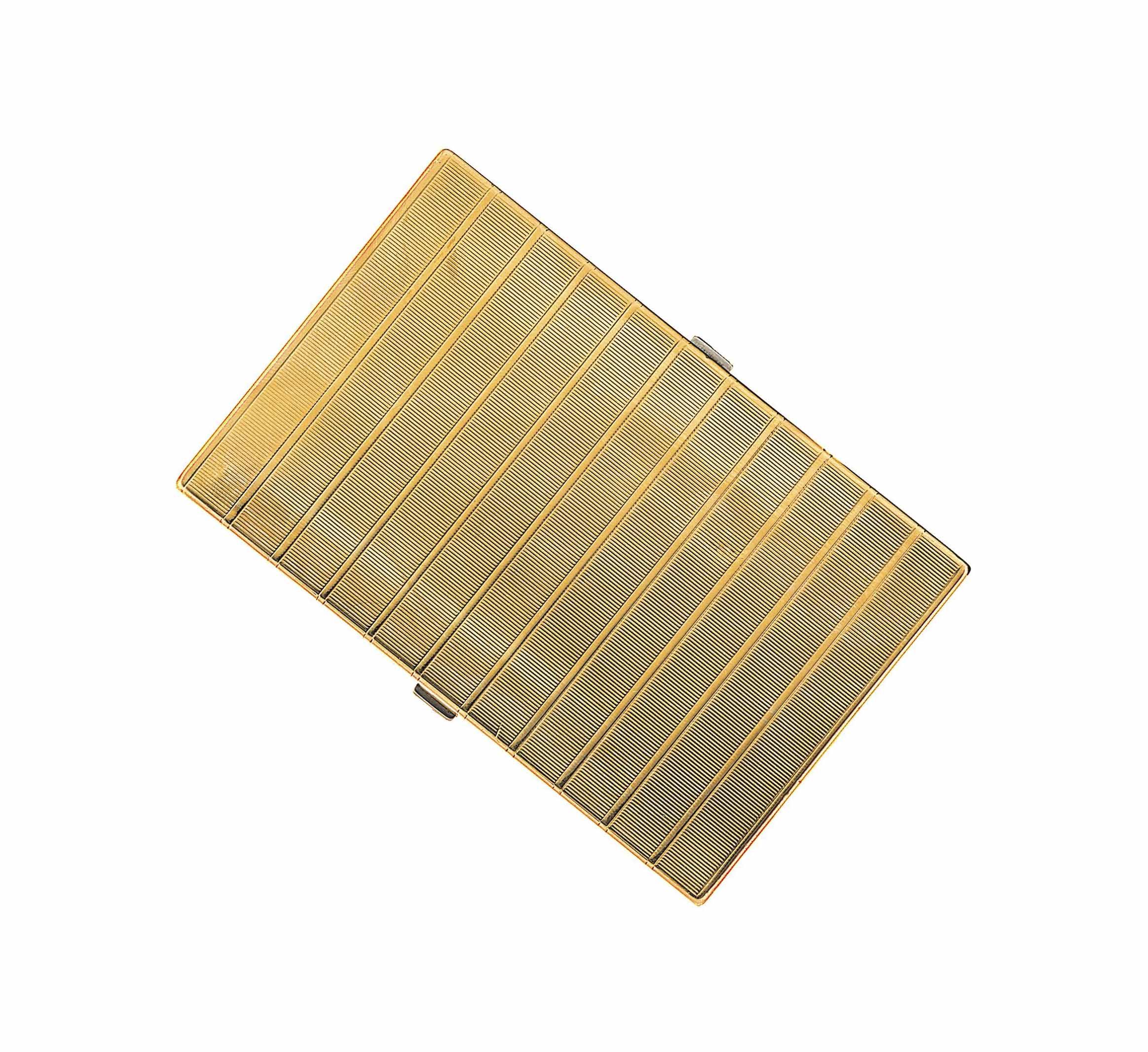 A 9ct gold compact / cigarette