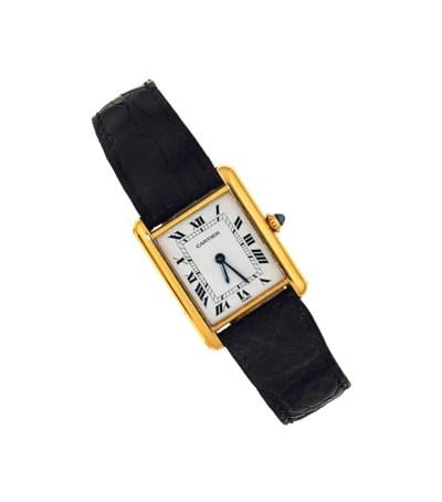 A 'Tank Louis Cartier' wristwa