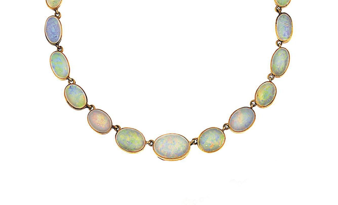 An opal necklace