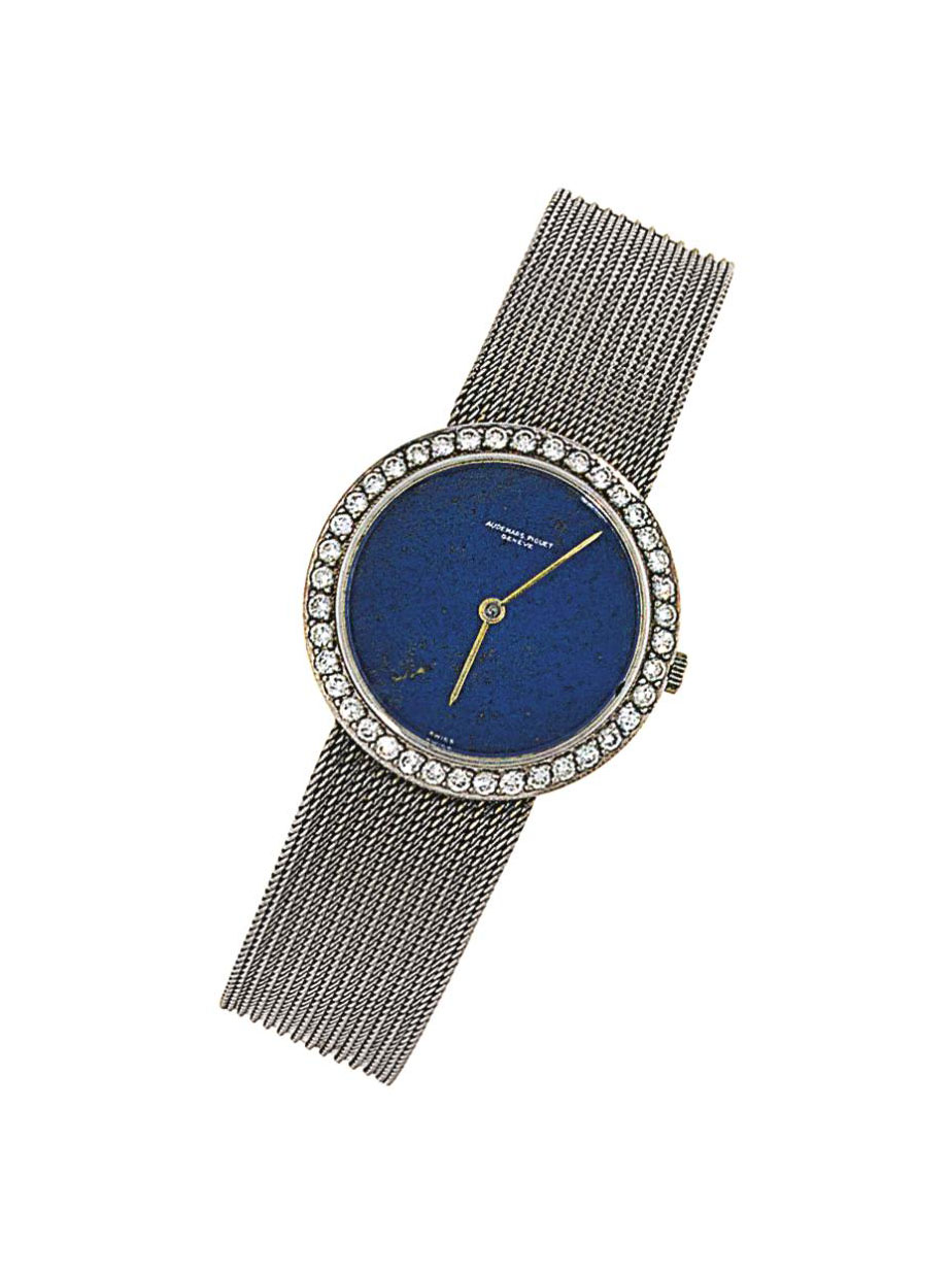 A lapis lazuli and diamond wri
