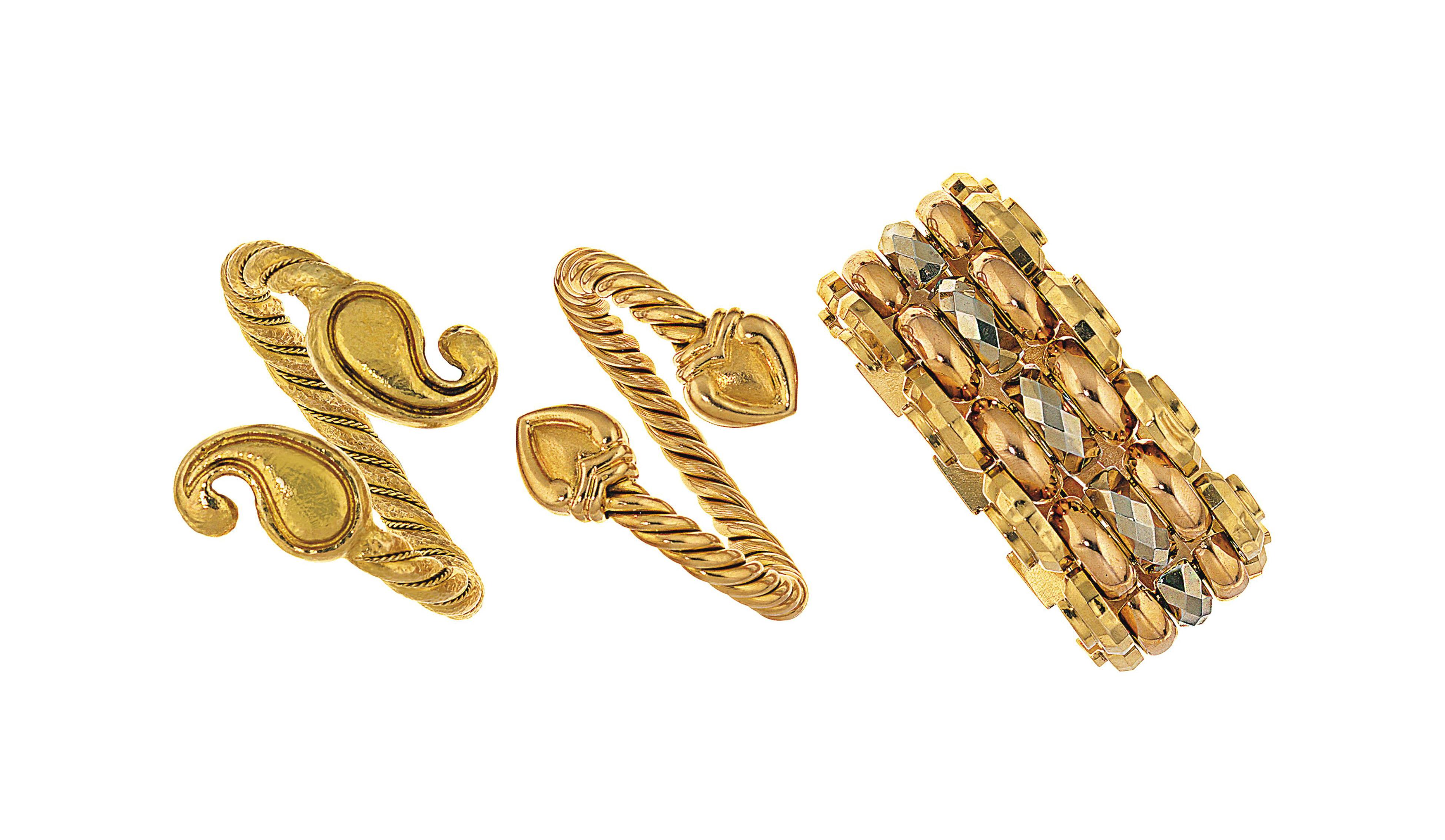 A group of five bracelets