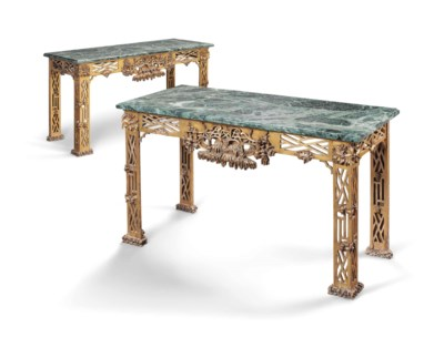 A PAIR OF EDWARDIAN GILTWOOD C
