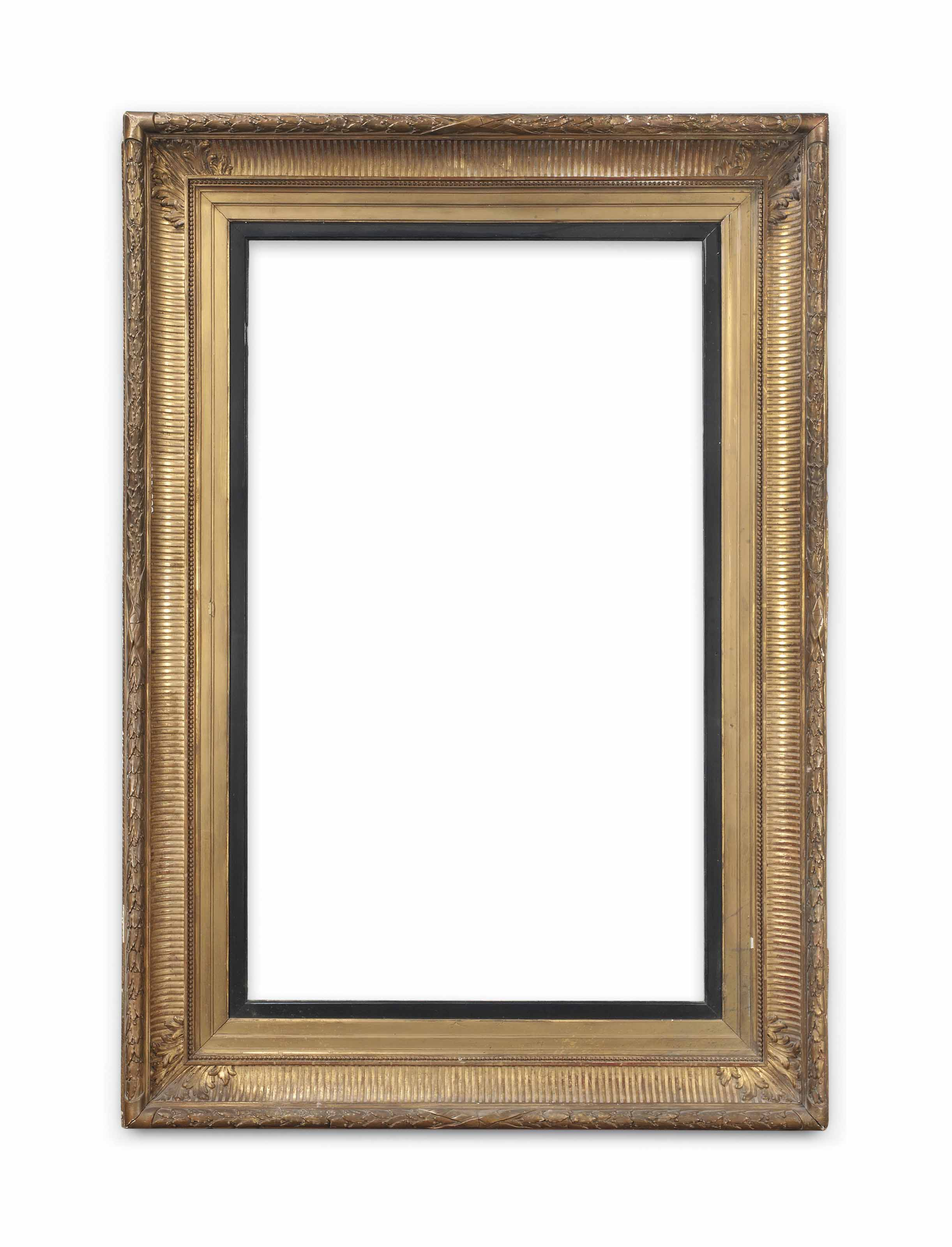 A LARGE WILLIAM IV GILTWOOD AND COMPOSITION PICTURE FRAME
