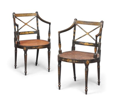 A PAIR OF LATE GEORGE III PARC