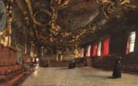 The 'Sala del Senato' in the Doge's Palace, Venice