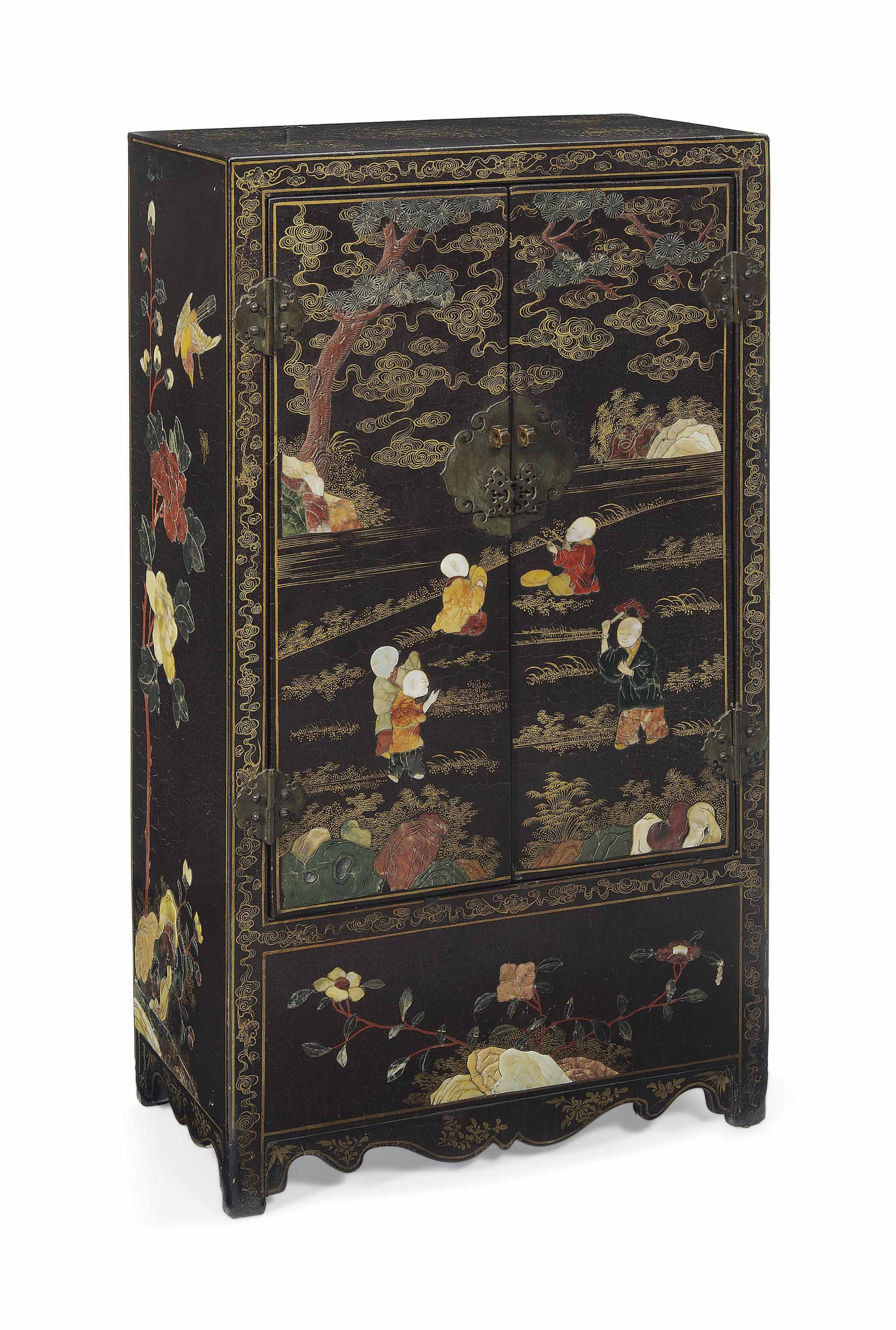 A MOTHER-OF-PEARL INLAID AND H