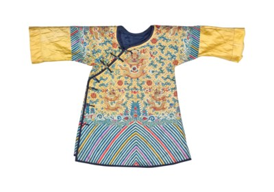 AN IMPERIAL EMBROIDERED YELLOW