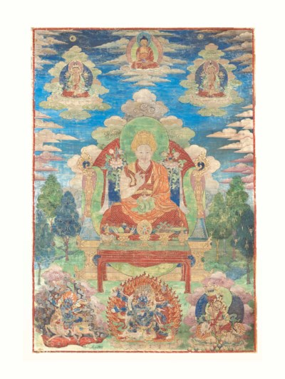 A THANGKA PROBABLY DEPICTING T