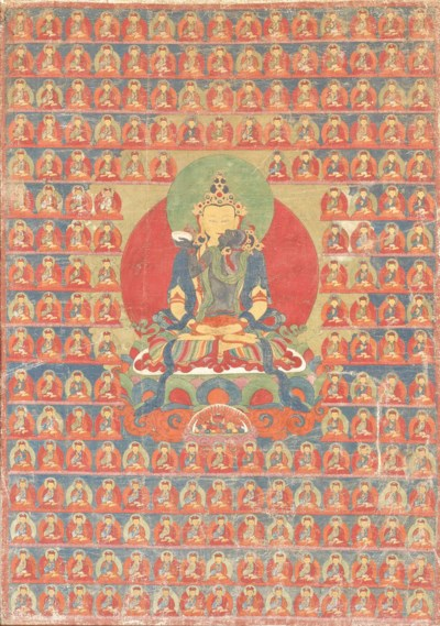 A THANGKA DEPICTING SAMVARA