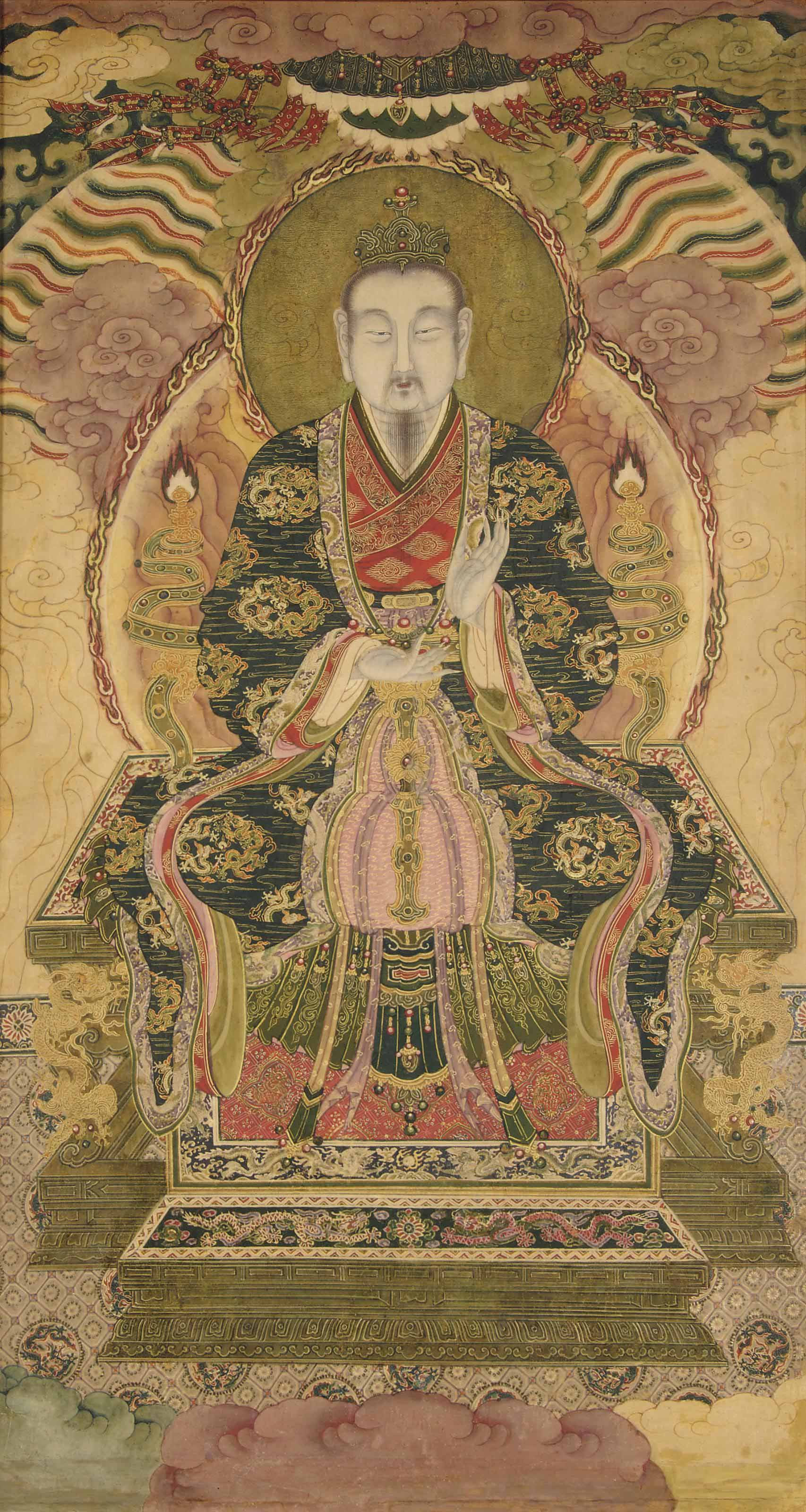 A DAOIST PAINTING OF YUANSHI T
