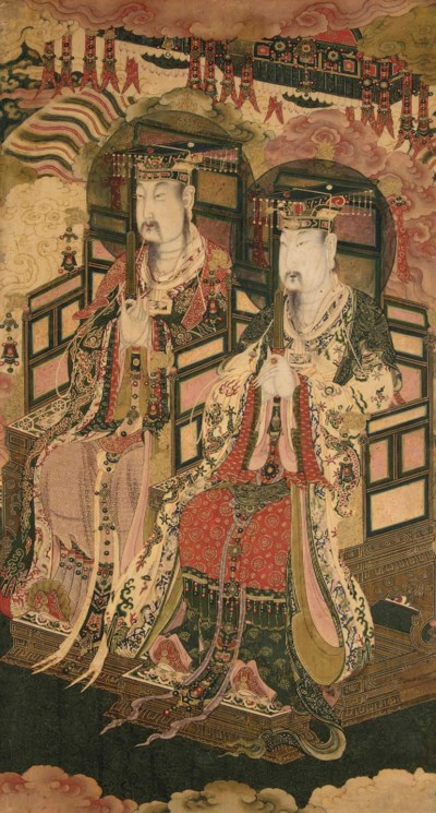 A DAOIST PAINTING OF TWO IMMOR