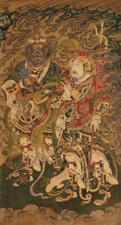 A DAOIST PAINTING OF TWO CELES