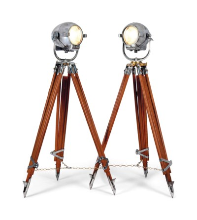 A MATCHED PAIR OF CHROME ADJUS