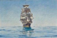 Becalmed in Chilean waters