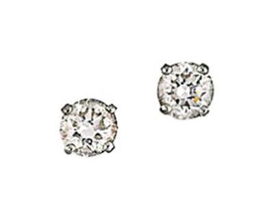 A pair of diamond earstuds, by