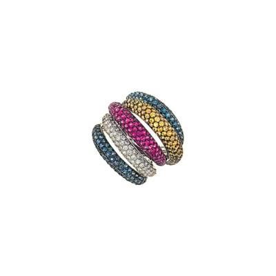 A gem-set dress ring
